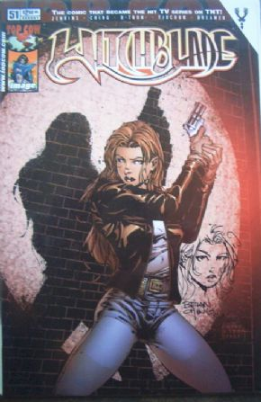 Witchblade #51 Signed Re-marked Jay Company Sketch Edition COA Ltd 100